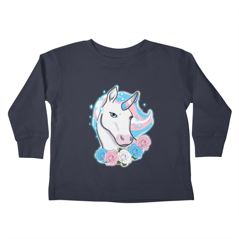 Trans pride unicorn Kids Toddler Longsleeve T-Shirt by AnimeGravy