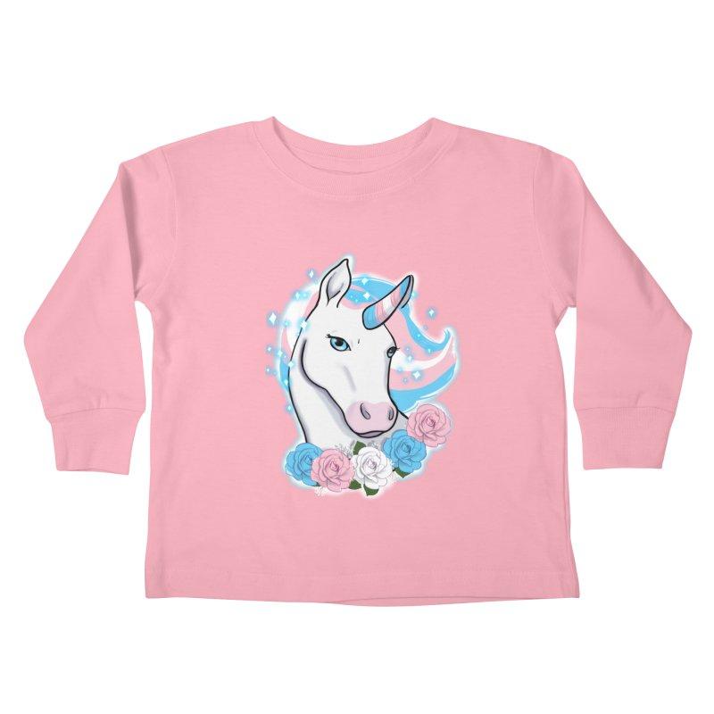 Trans pride unicorn Kids Toddler Longsleeve T-Shirt by AnimeGravy
