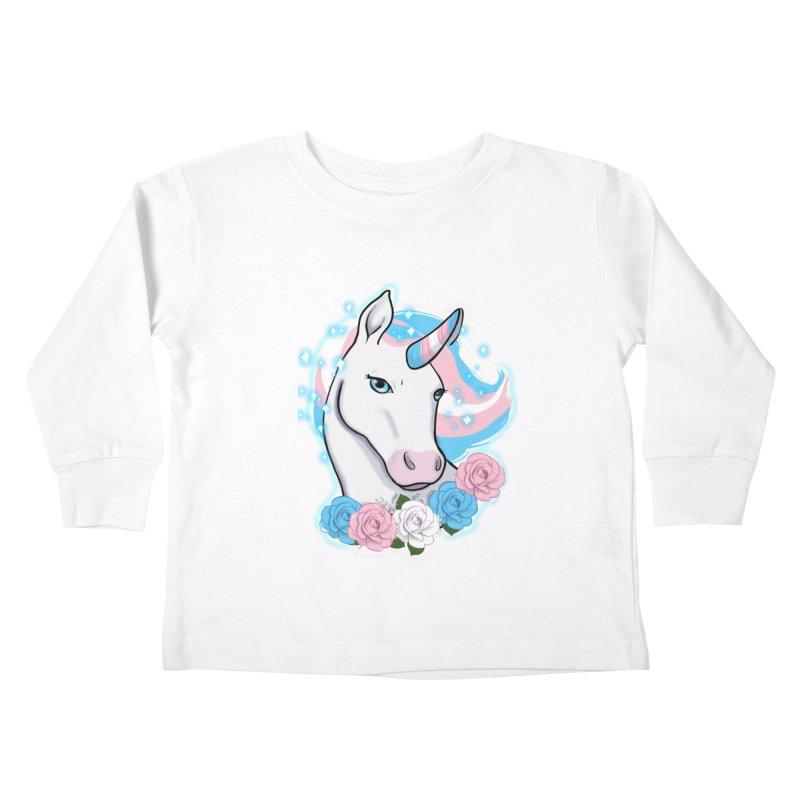 Trans pride unicorn Kids Toddler Longsleeve T-Shirt by Animegravy's Artist Shop