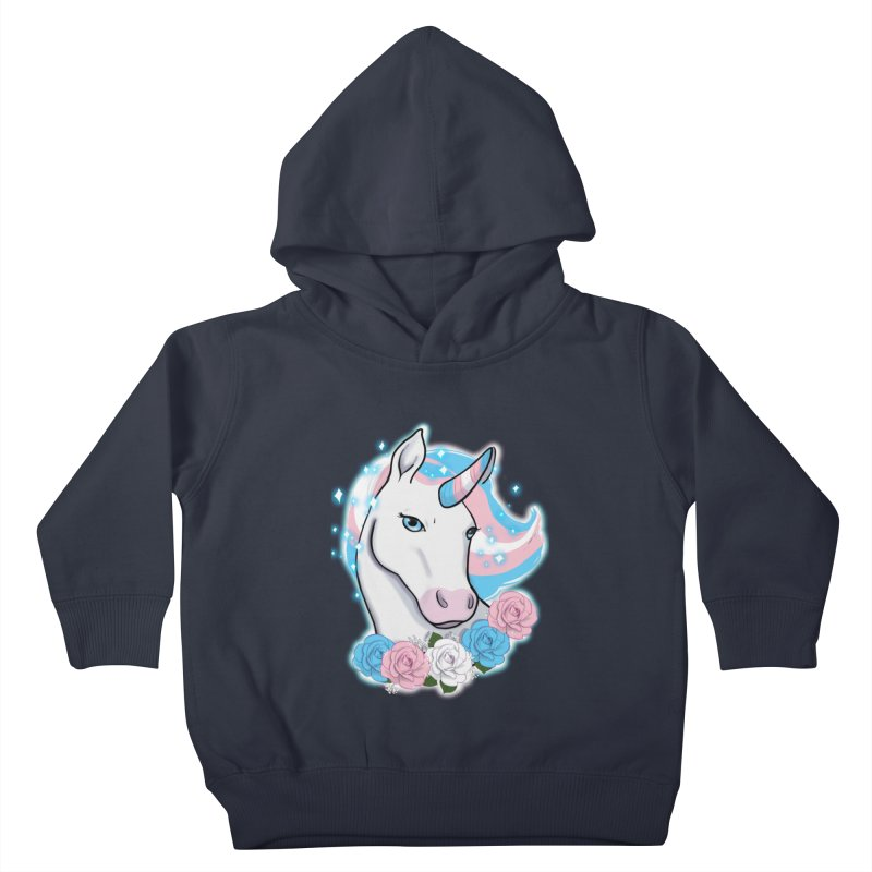 Trans pride unicorn Kids Toddler Pullover Hoody by AnimeGravy