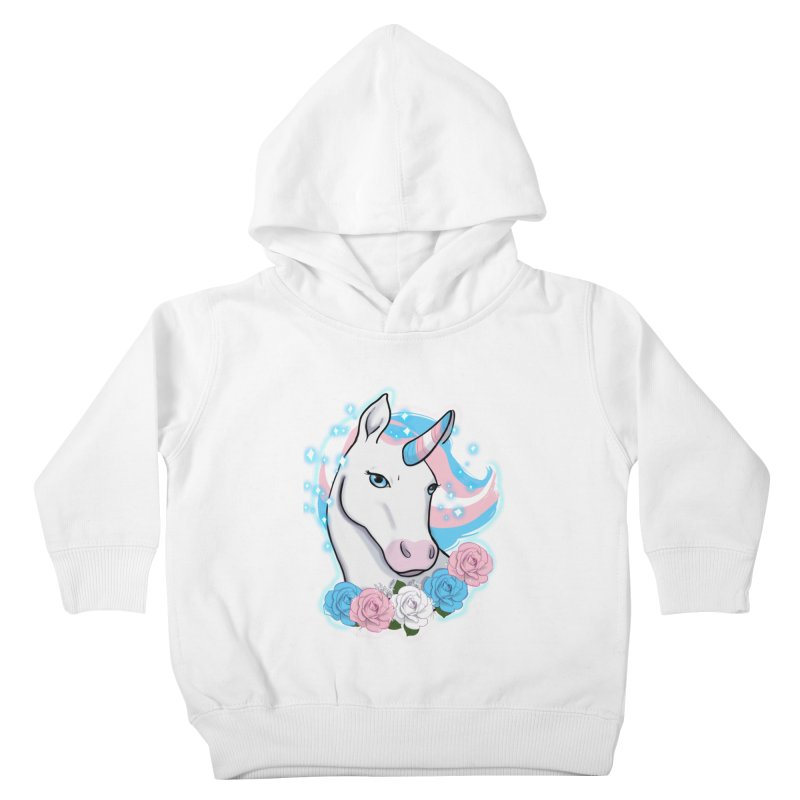 Trans pride unicorn Kids Toddler Pullover Hoody by Animegravy's Artist Shop