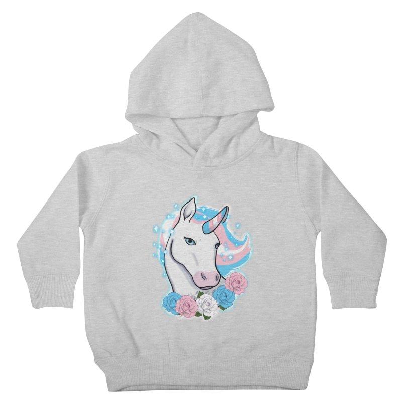 Trans pride unicorn Kids Toddler Pullover Hoody by AnimeGravy