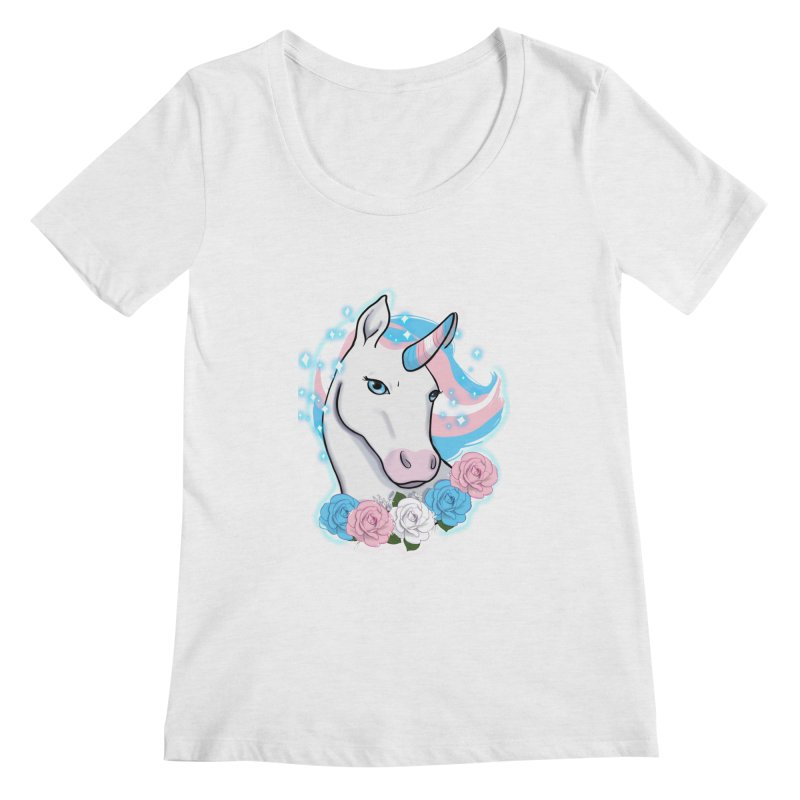 Trans pride unicorn Women's Regular Scoop Neck by AnimeGravy