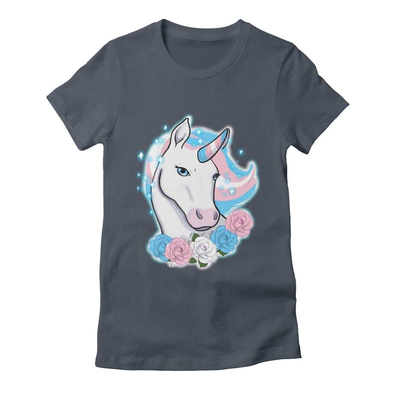 Trans pride unicorn Women's T-Shirt by AnimeGravy