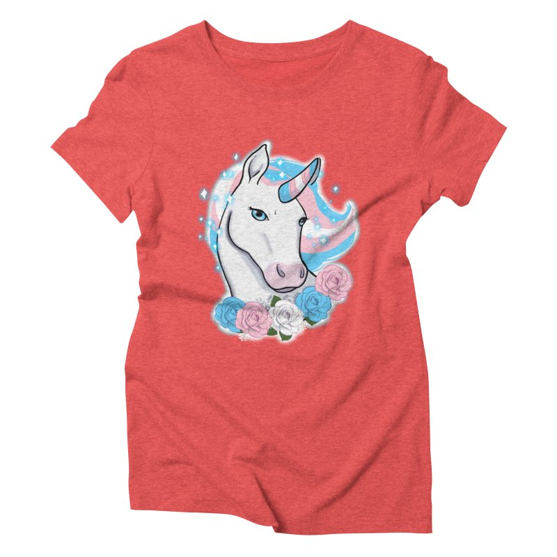 Trans pride unicorn Women's Triblend T-Shirt by AnimeGravy