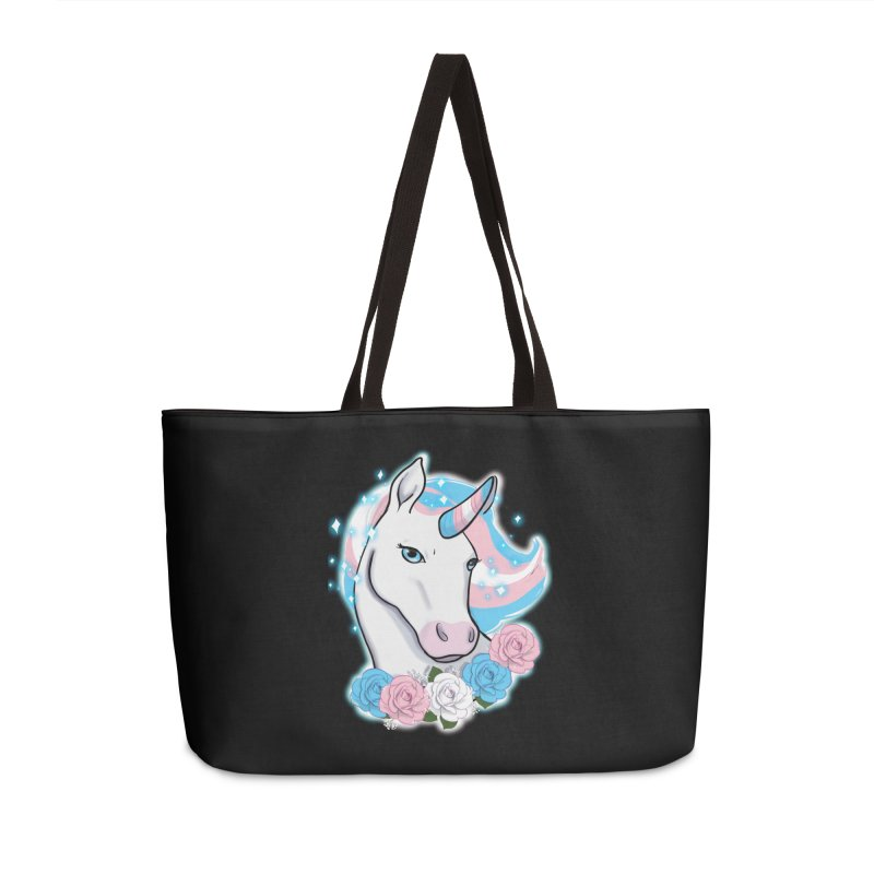 Trans pride unicorn Accessories Bag by AnimeGravy