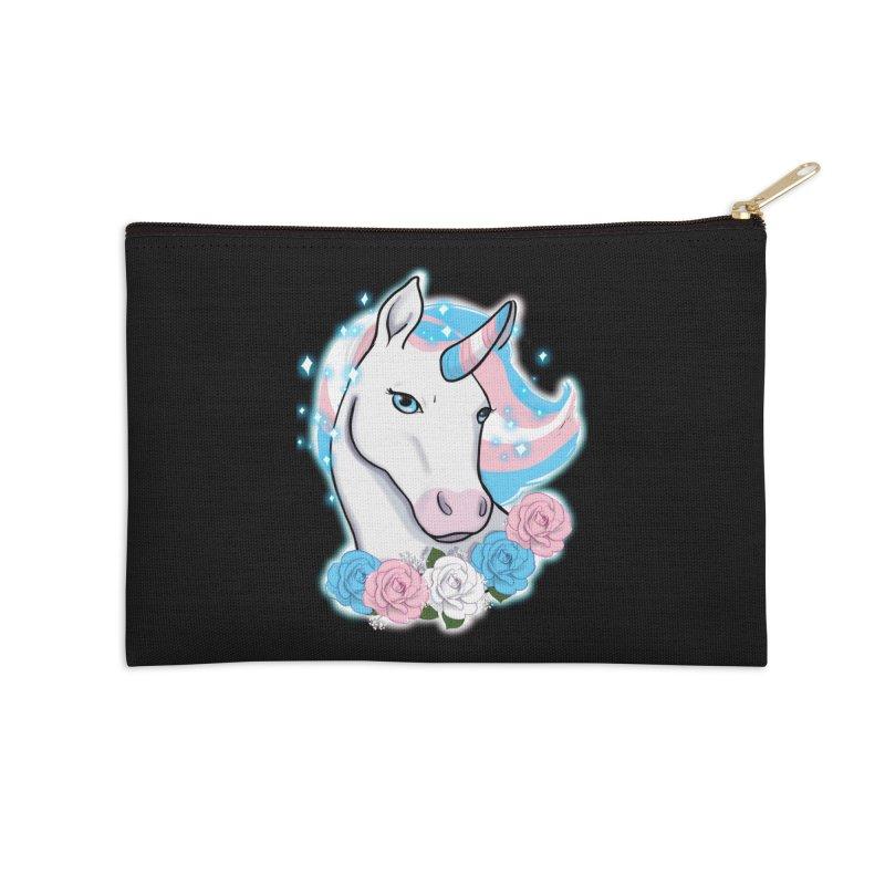 Trans pride unicorn Accessories Zip Pouch by AnimeGravy