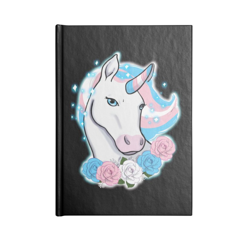 Trans pride unicorn Accessories Lined Journal Notebook by AnimeGravy