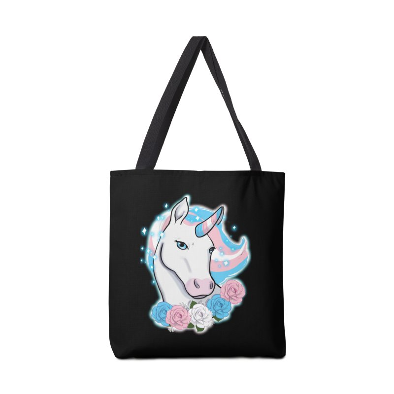 Trans pride unicorn Accessories Bag by Animegravy's Artist Shop