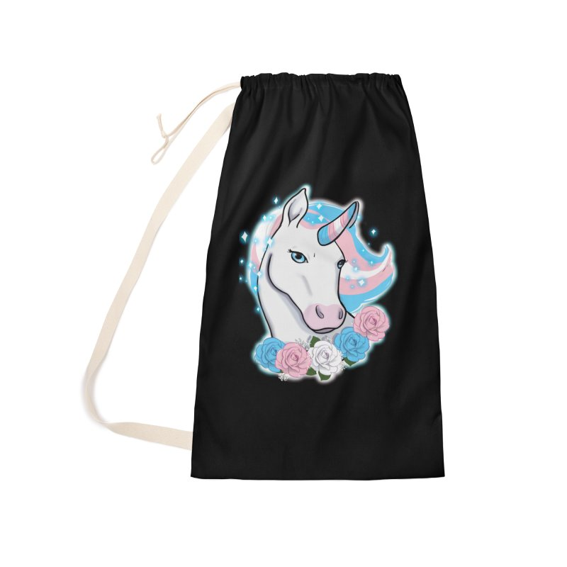 Trans pride unicorn Accessories Laundry Bag Bag by AnimeGravy