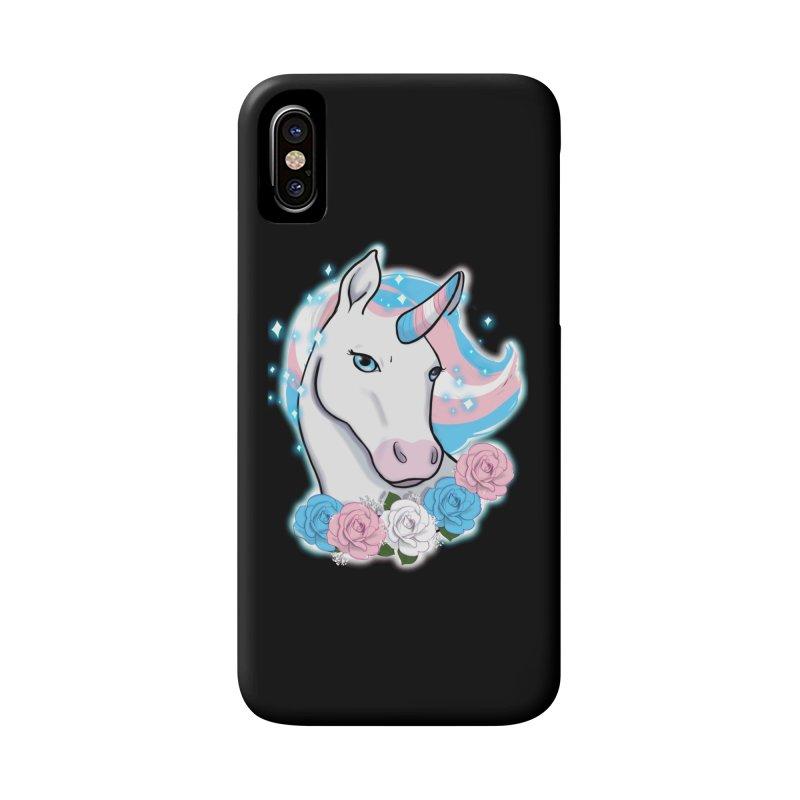 Trans pride unicorn Accessories Phone Case by Animegravy's Artist Shop