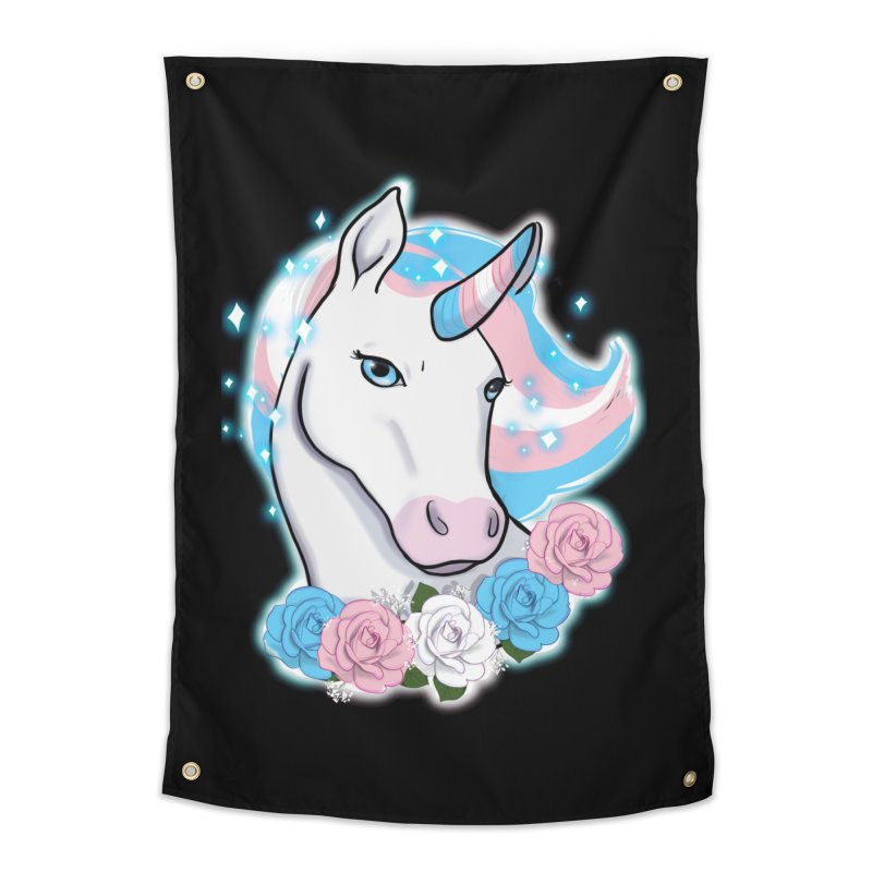 Trans pride unicorn Home Tapestry by AnimeGravy