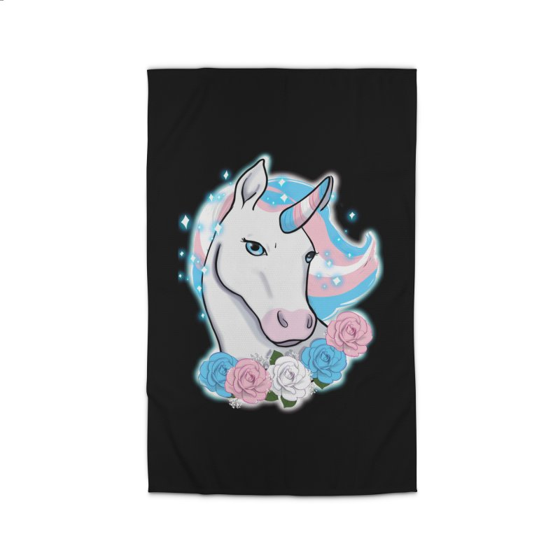 Trans pride unicorn Home Rug by AnimeGravy