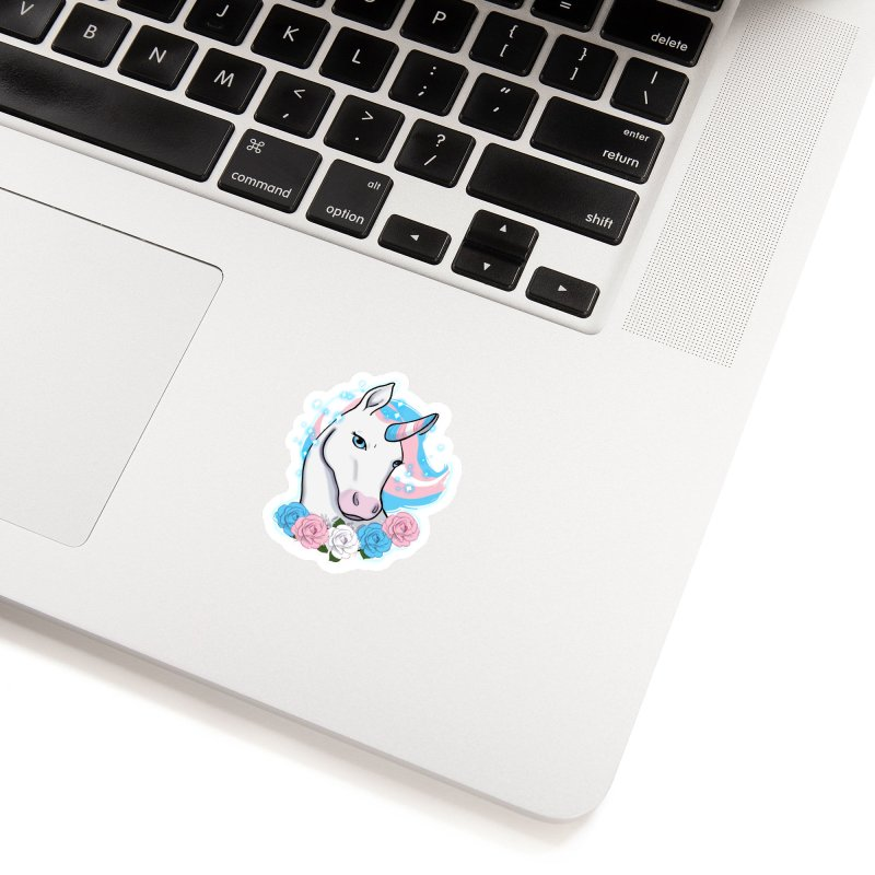 Trans pride unicorn Accessories Sticker by AnimeGravy