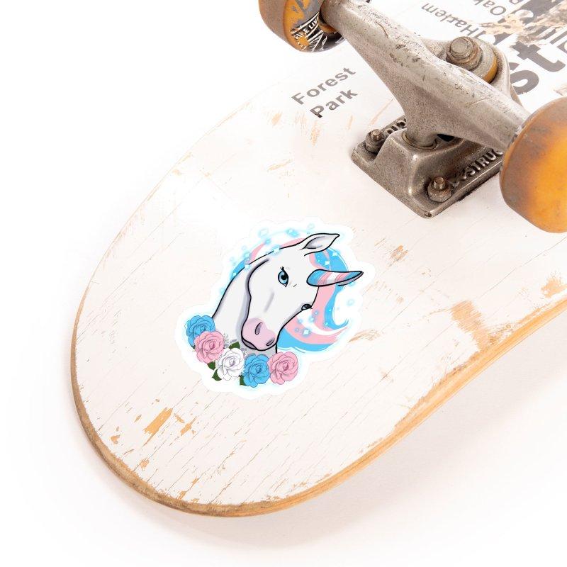 Trans pride unicorn Accessories Sticker by AnimeGravy