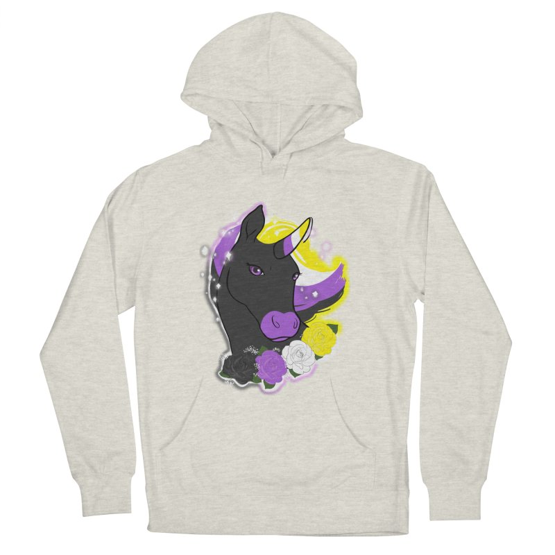 Nonbinary pride unicorn Men's French Terry Pullover Hoody by AnimeGravy