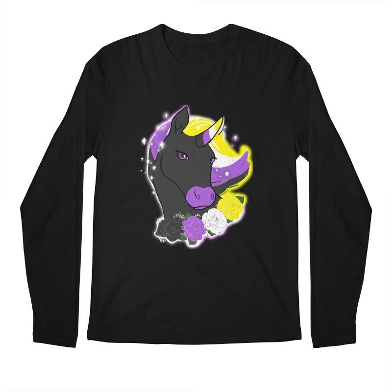 Nonbinary pride unicorn Men's Regular Longsleeve T-Shirt by AnimeGravy