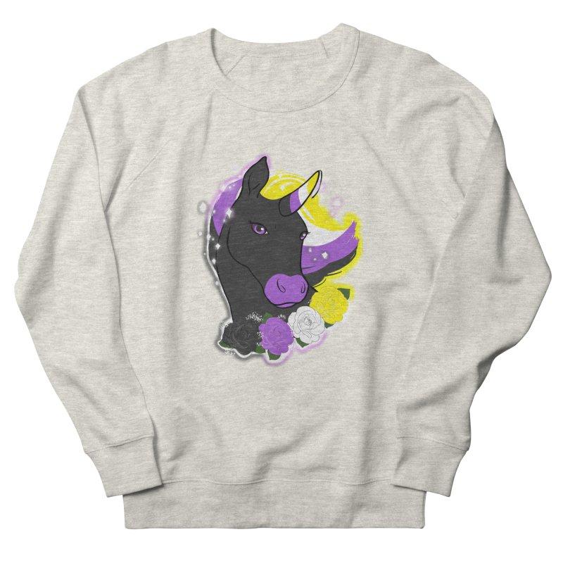 Nonbinary pride unicorn Women's French Terry Sweatshirt by AnimeGravy