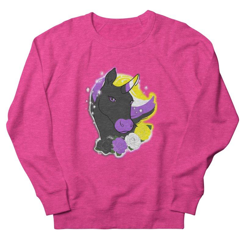 Nonbinary pride unicorn Men's French Terry Sweatshirt by Animegravy's Artist Shop