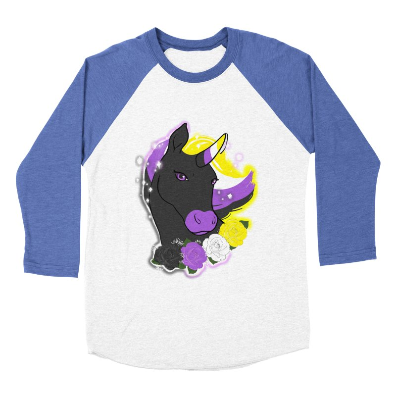 Nonbinary pride unicorn Men's Baseball Triblend Longsleeve T-Shirt by AnimeGravy