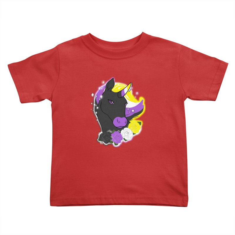Nonbinary pride unicorn Kids Toddler T-Shirt by AnimeGravy