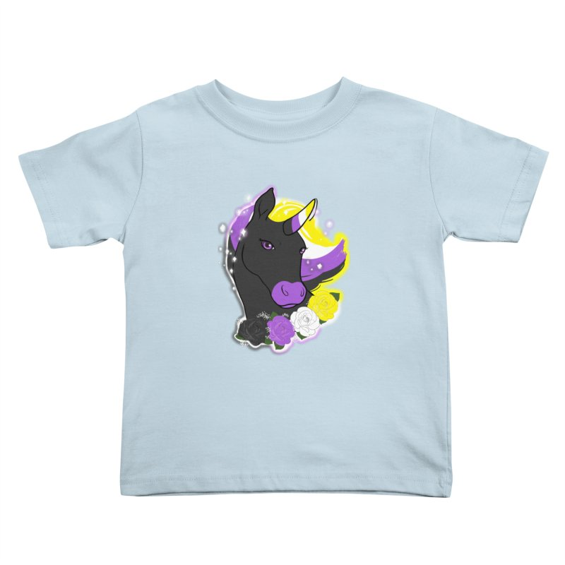 Nonbinary pride unicorn Kids Toddler T-Shirt by AnimeGravy