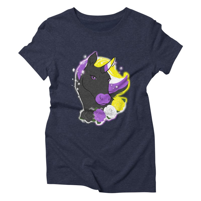 Nonbinary pride unicorn Women's Triblend T-Shirt by AnimeGravy