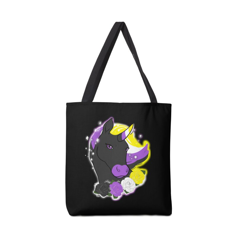 Nonbinary pride unicorn Accessories Bag by Animegravy's Artist Shop