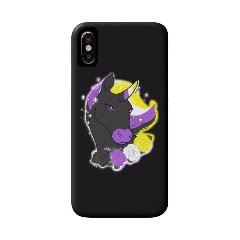 Nonbinary pride unicorn Accessories Phone Case by AnimeGravy