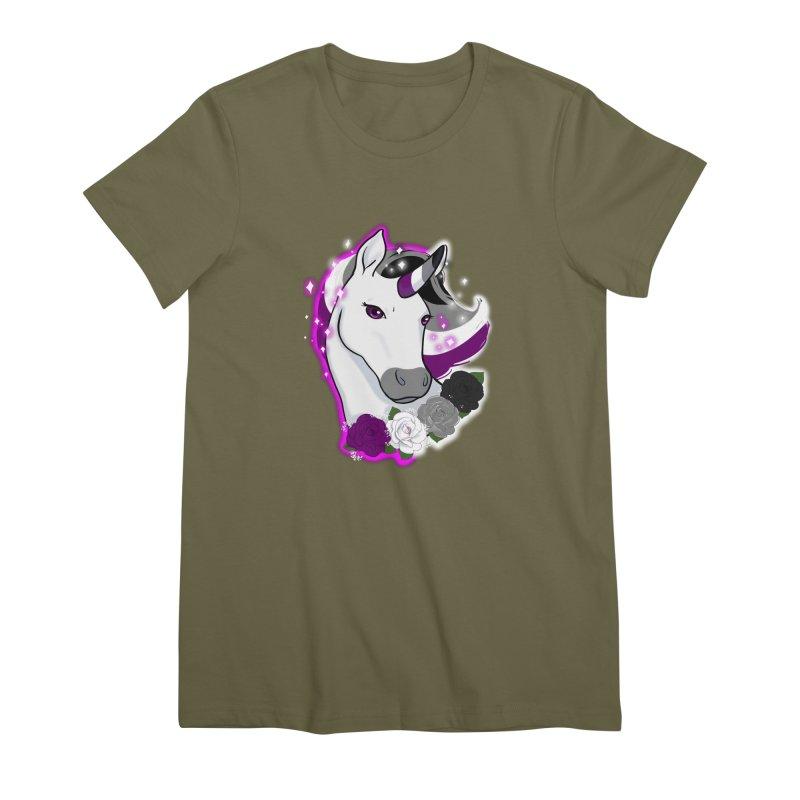 Asexual pride unicorn Women's Premium T-Shirt by AnimeGravy