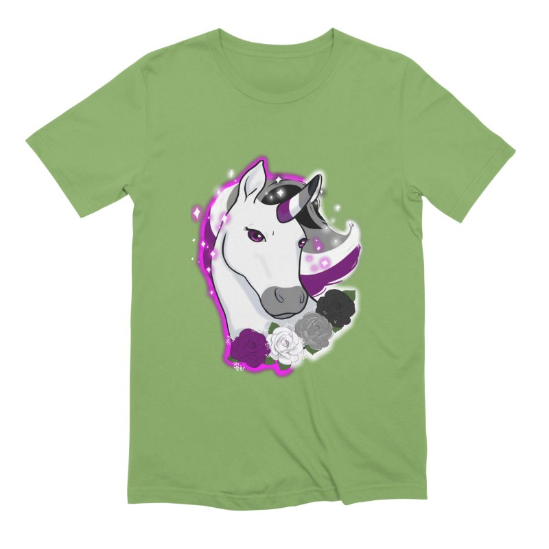 Asexual pride unicorn Men's Extra Soft T-Shirt by AnimeGravy
