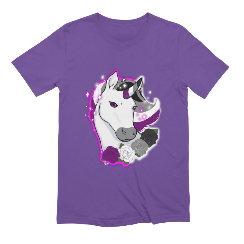 Asexual pride unicorn Men's Extra Soft T-Shirt by AnimeGravy
