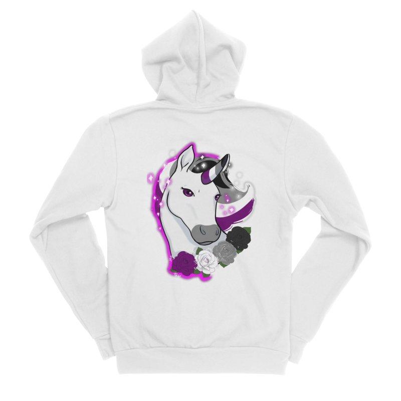 Asexual pride unicorn Men's Sponge Fleece Zip-Up Hoody by AnimeGravy