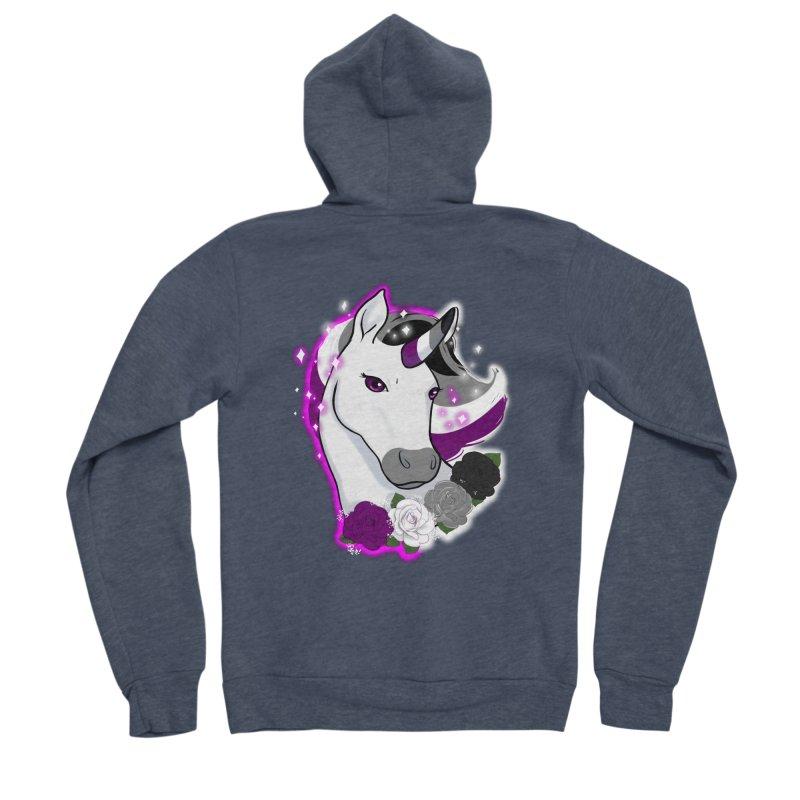 Asexual pride unicorn Women's Zip-Up Hoody by AnimeGravy