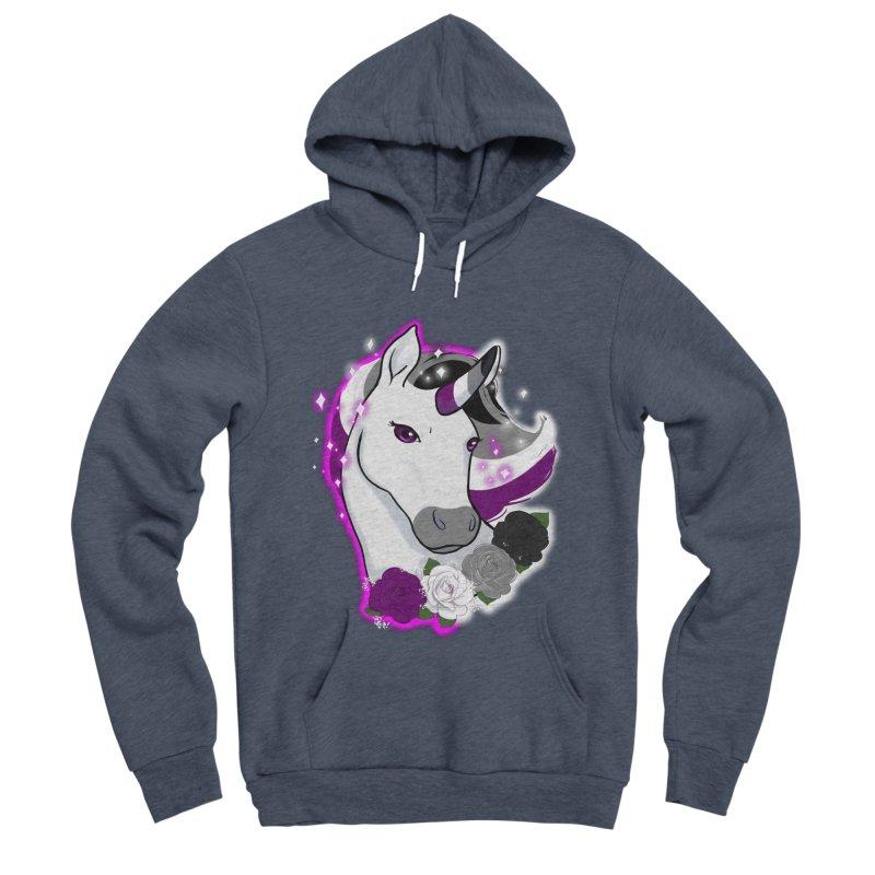 Asexual pride unicorn Women's Sponge Fleece Pullover Hoody by Animegravy's Artist Shop