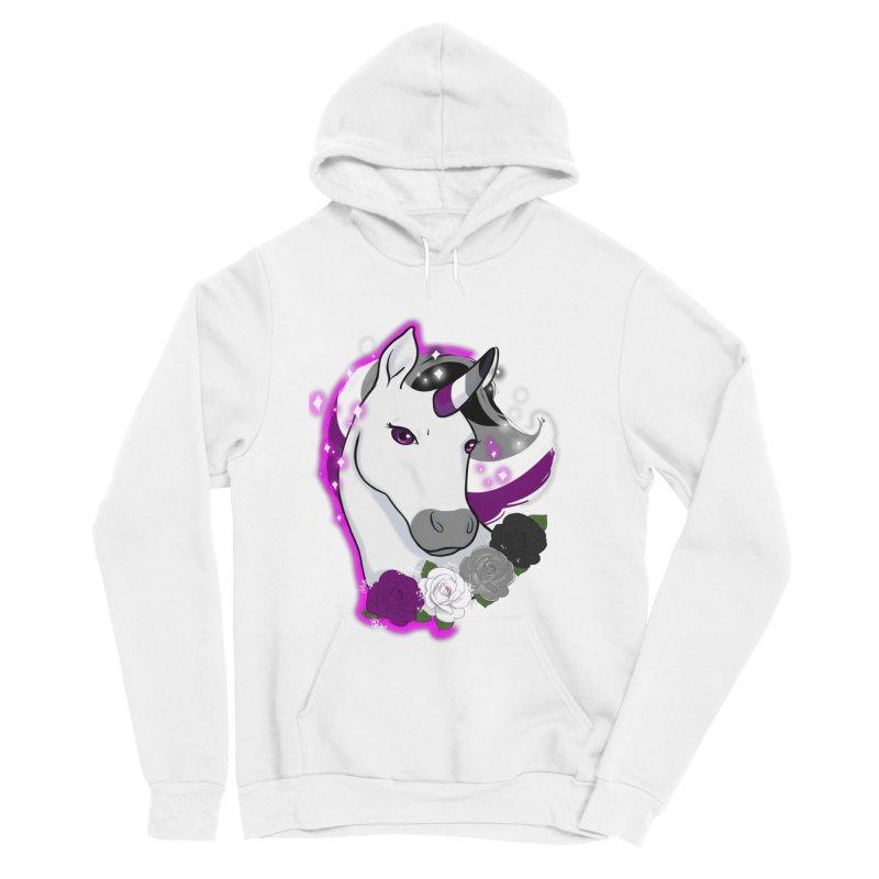 Asexual pride unicorn Men's Sponge Fleece Pullover Hoody by AnimeGravy