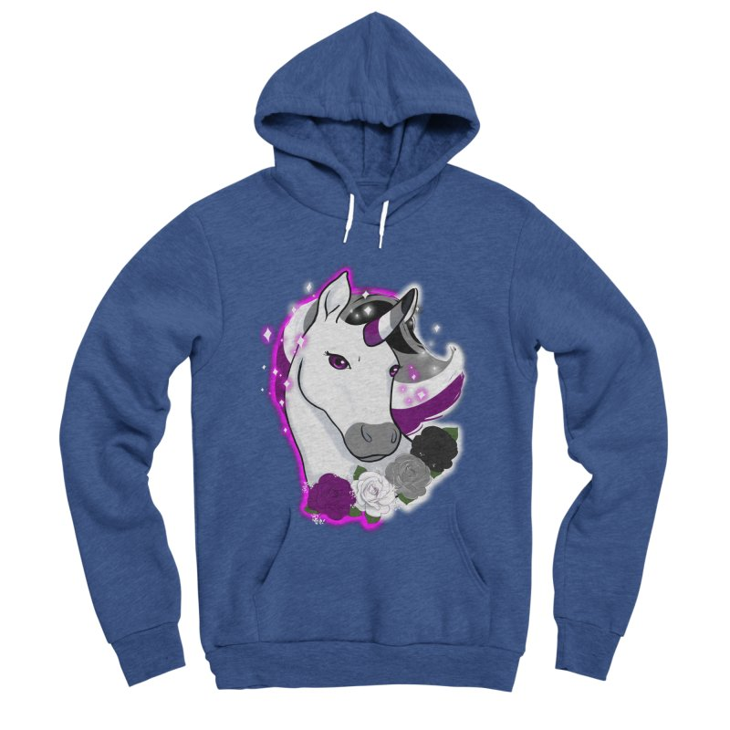 Asexual pride unicorn Women's Sponge Fleece Pullover Hoody by AnimeGravy
