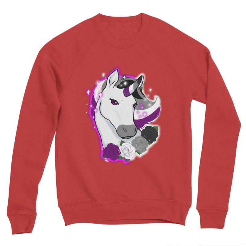 Asexual pride unicorn Men's Sponge Fleece Sweatshirt by AnimeGravy