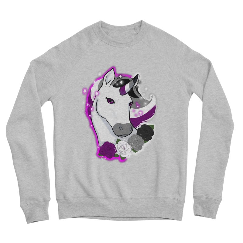 Asexual pride unicorn Men's Sponge Fleece Sweatshirt by Animegravy's Artist Shop