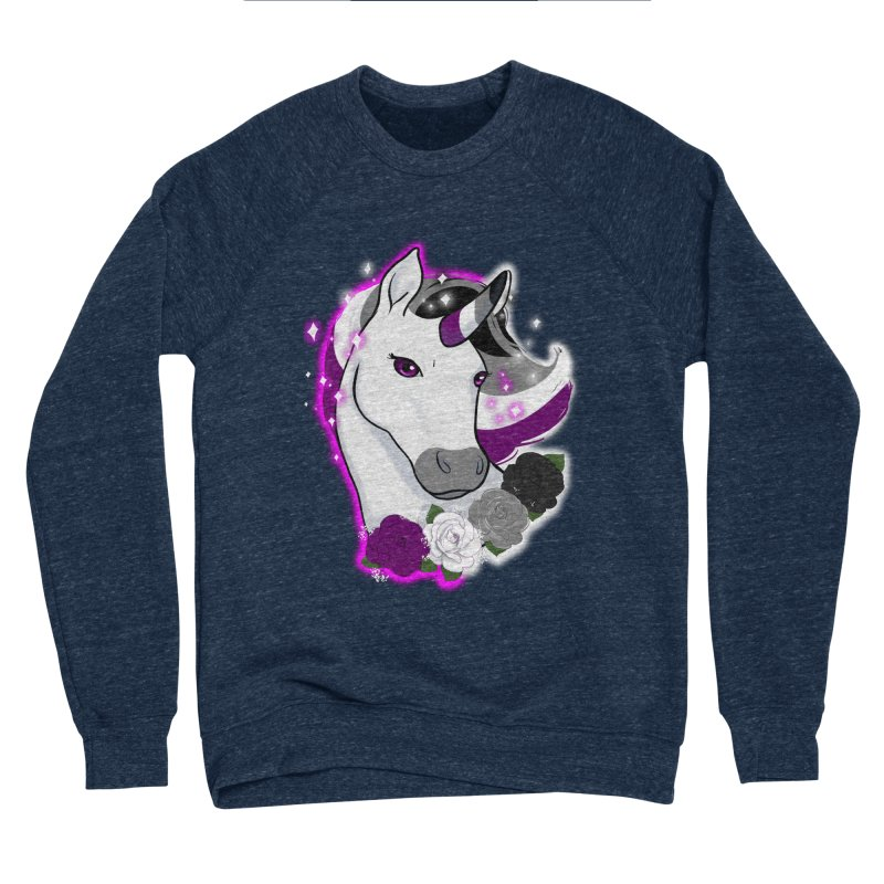 Asexual pride unicorn Men's Sponge Fleece Sweatshirt by AnimeGravy