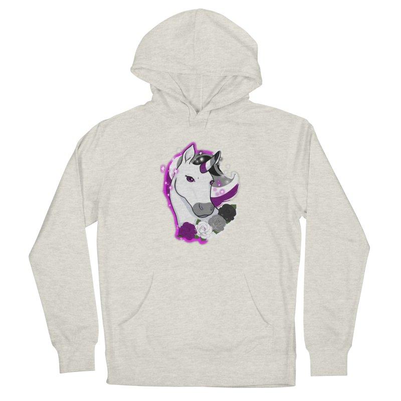 Asexual pride unicorn Women's Pullover Hoody by AnimeGravy