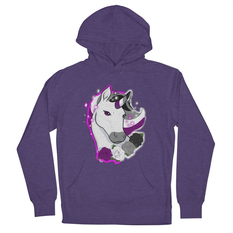 Asexual pride unicorn Women's French Terry Pullover Hoody by AnimeGravy
