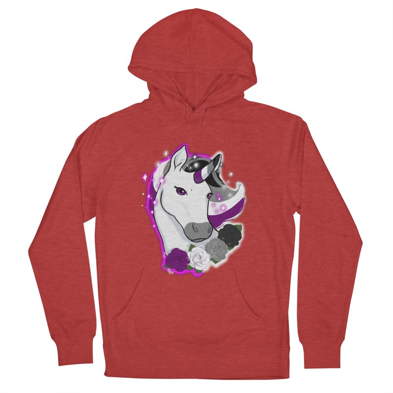 Asexual pride unicorn Men's French Terry Pullover Hoody by Animegravy's Artist Shop