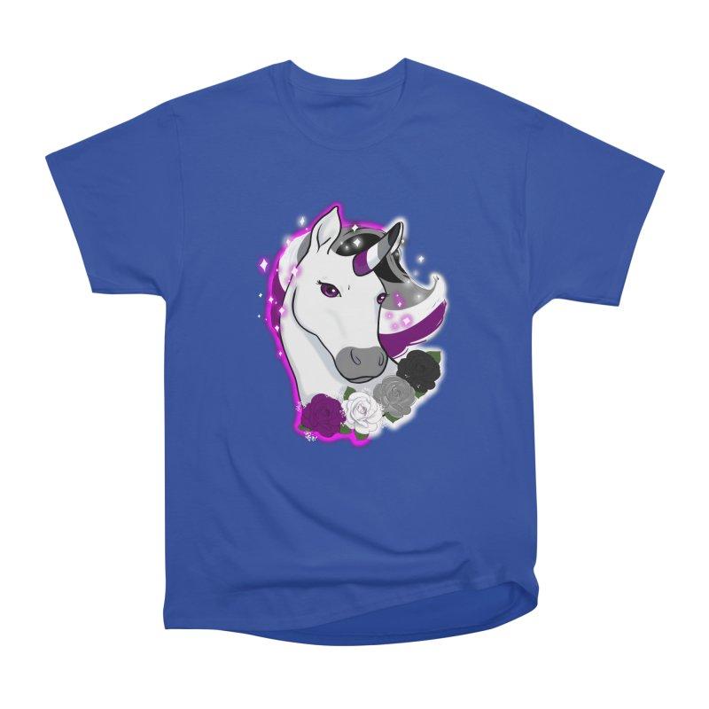 Asexual pride unicorn Women's Heavyweight Unisex T-Shirt by AnimeGravy