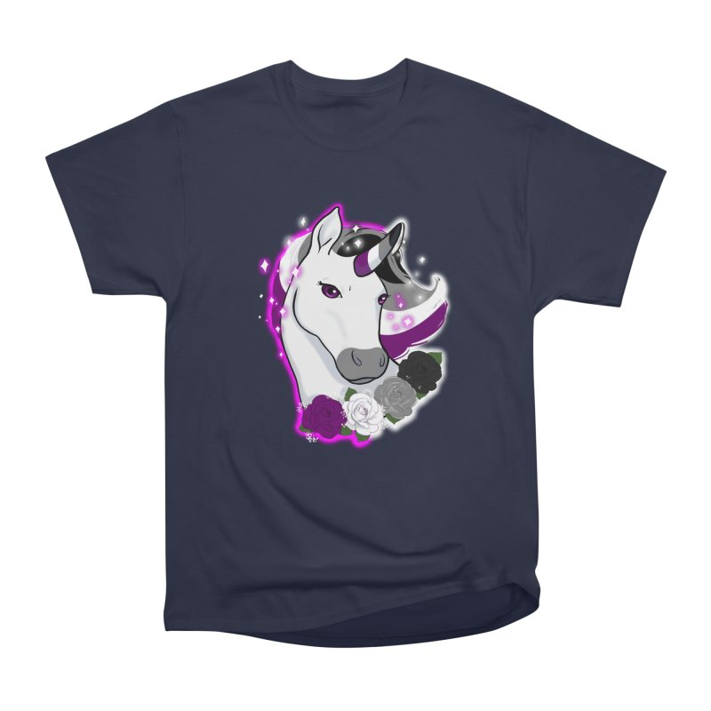 Asexual pride unicorn Men's Heavyweight T-Shirt by Animegravy's Artist Shop