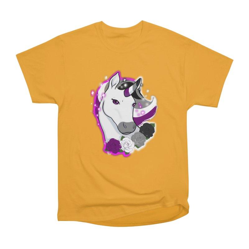 Asexual pride unicorn Men's Heavyweight T-Shirt by AnimeGravy