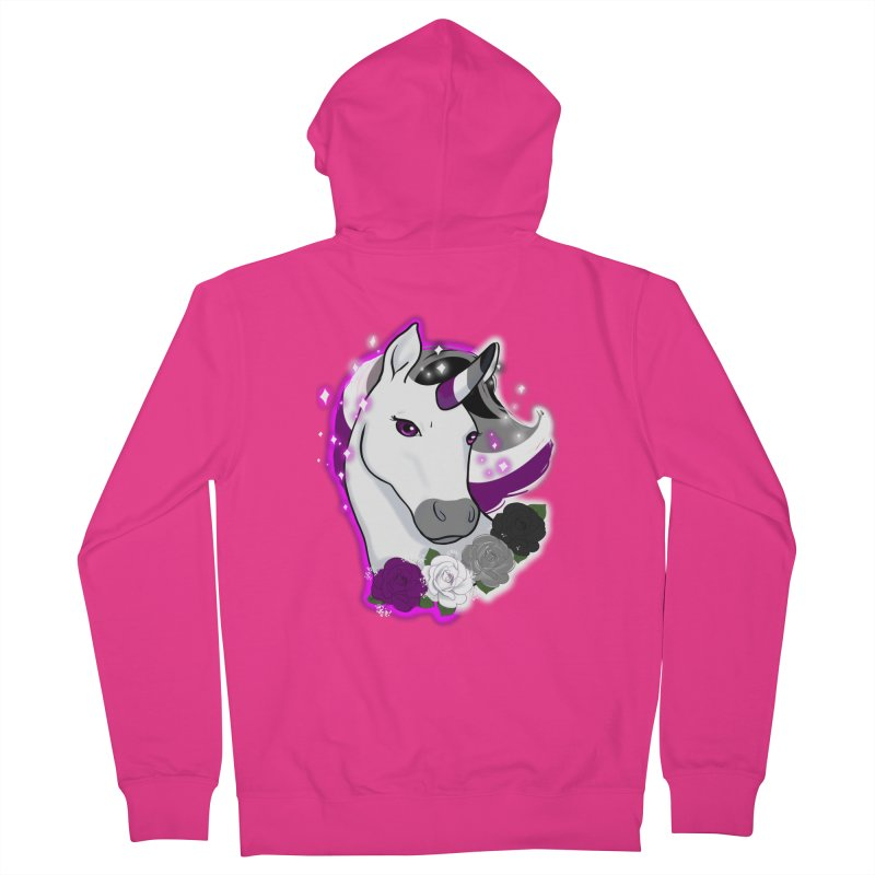 Asexual pride unicorn Men's French Terry Zip-Up Hoody by AnimeGravy