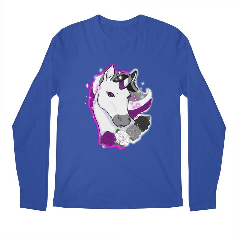 Asexual pride unicorn Men's Regular Longsleeve T-Shirt by AnimeGravy