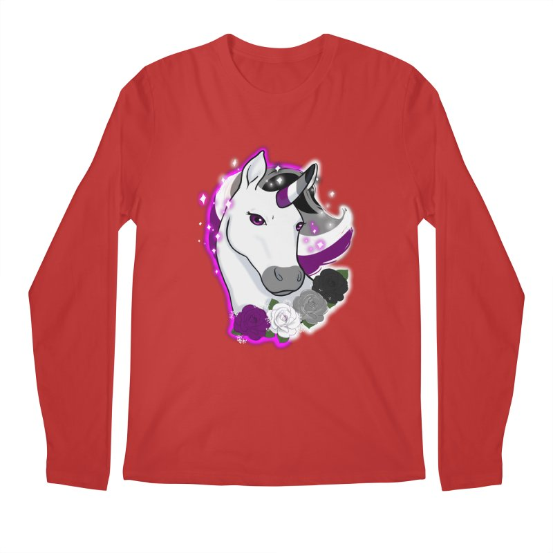 Asexual pride unicorn Men's Regular Longsleeve T-Shirt by Animegravy's Artist Shop