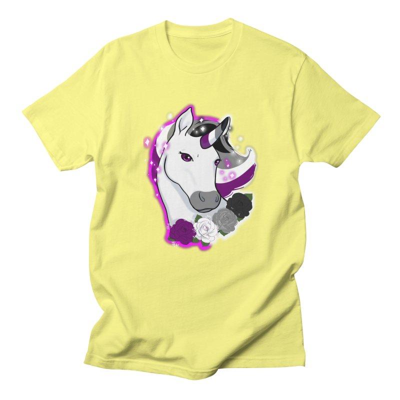 Asexual pride unicorn Women's Regular Unisex T-Shirt by AnimeGravy
